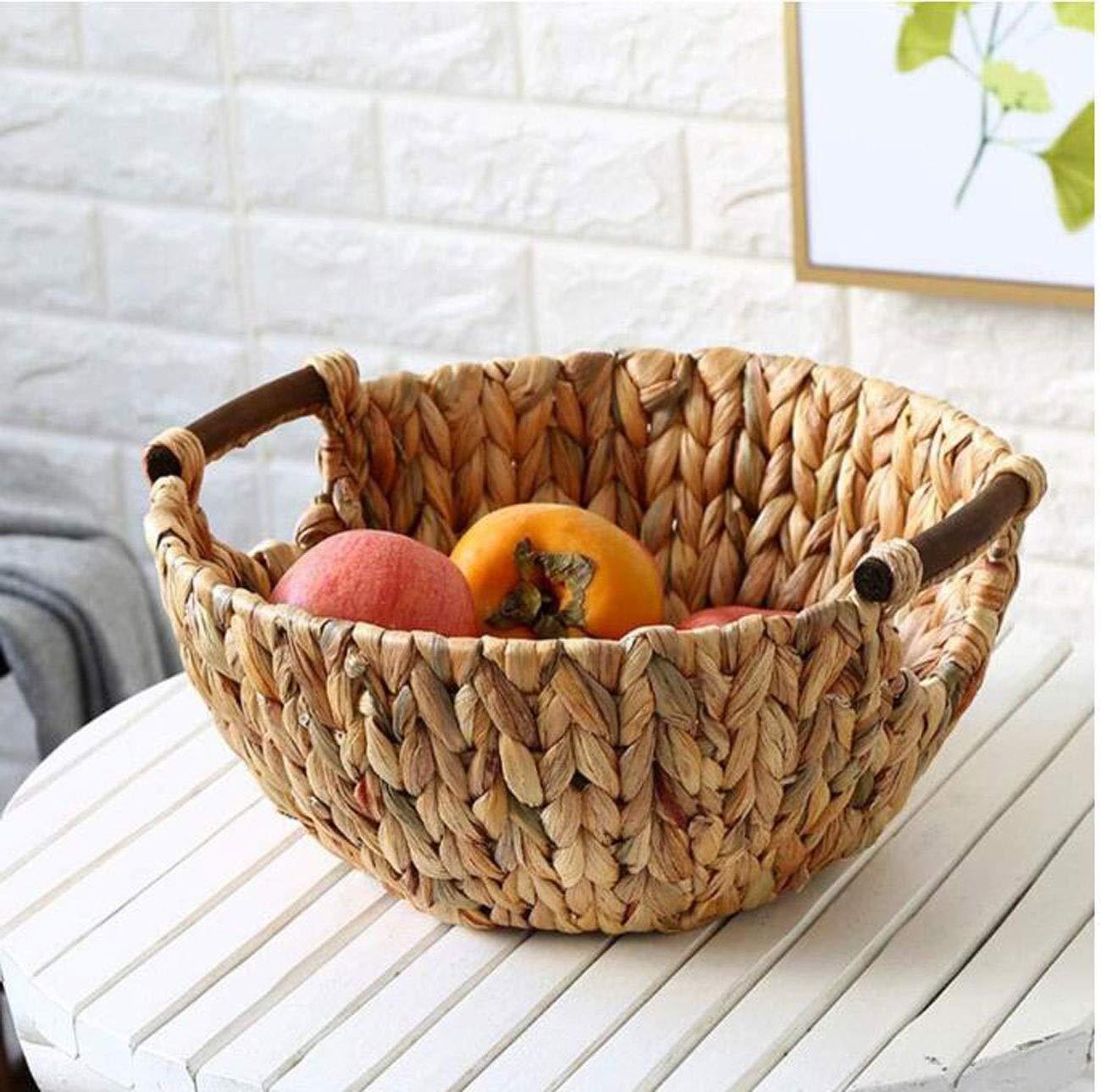 HYZSGP Fruit plate Fruit Storage Basket Storage Basket Handmade Vegetable Basket Retro Multi-function Large-capacity Storage Basket fruit basket snack plate Fruit Bowl Fruit Basket