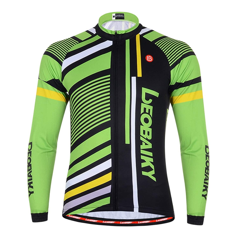 EoCot Men's Cycling Jersey Long Sleeve Tops Mountain Bike Shirts Bicycle Jacket
