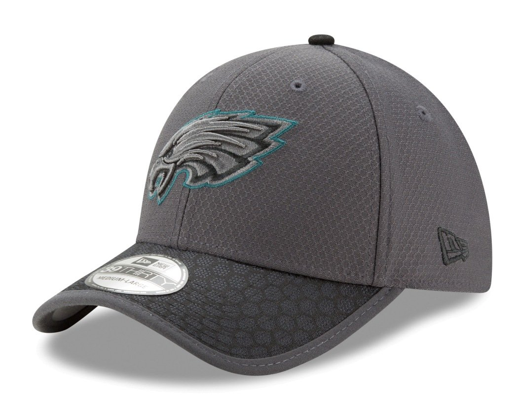bfe172091dc7b3 Philadelphia Eagles New Era NFL 39THIRTY 2017 Sideline Graphite Flex Fit  Hat: Amazon.co.uk: Sports & Outdoors