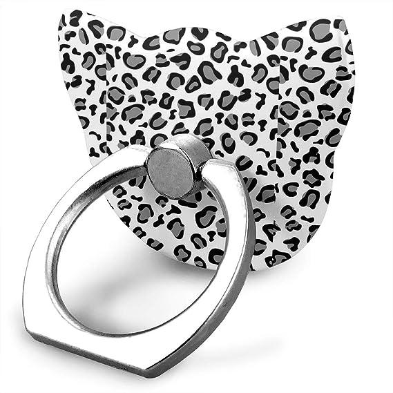 Amazon Com Leopard Custom Cat Shape Finger Ring Grip 360 Rotary