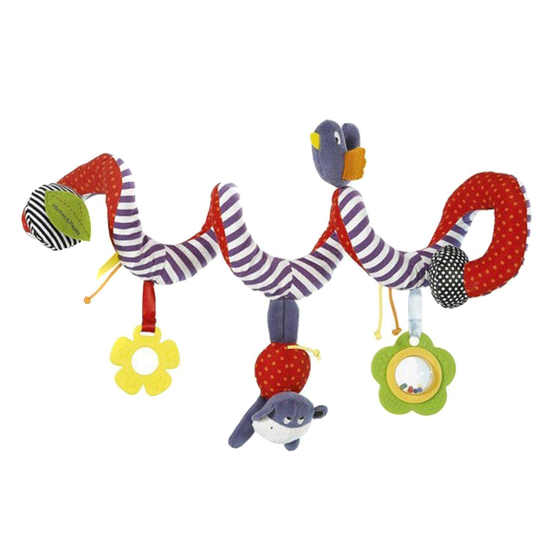 TININNA Mignon Bébé Jouet Spirale Musique en Peluche d\'activité Jouet d\'éveil pour Lit et Poussette Hochet Twisty Hanging Toys #1