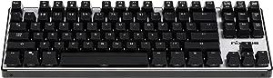 Nixeus Moda v2 Compact Mechanical Switch, Clicky Tactile Bump Feedback Keyboard for Windows & Mac (MK-BL15)