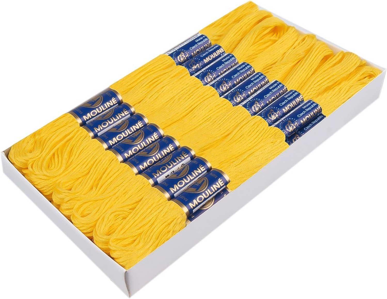 maDDma /® 1 Docke Stickgarn//Sticktwist 100/% Baumwolle #1652 Lemon