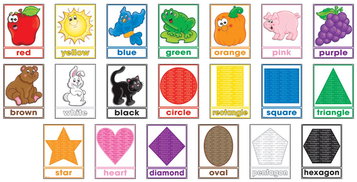 amazon com colors and shapes bulletin board poster scholastic