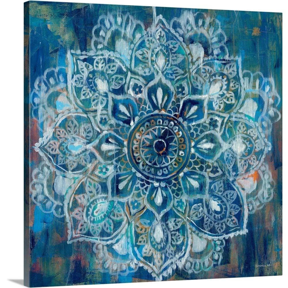 Danhui Naiプレミアムthick-wrapキャンバス壁アートプリントMandalaというタイトルのブルーII 36