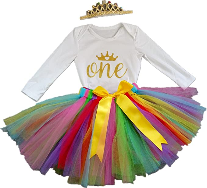 Headband Tutu Dress 3PCS Clothes Set Baby Girl 2021 New Year Tutu Dress Outfit My 1st New Year Romper