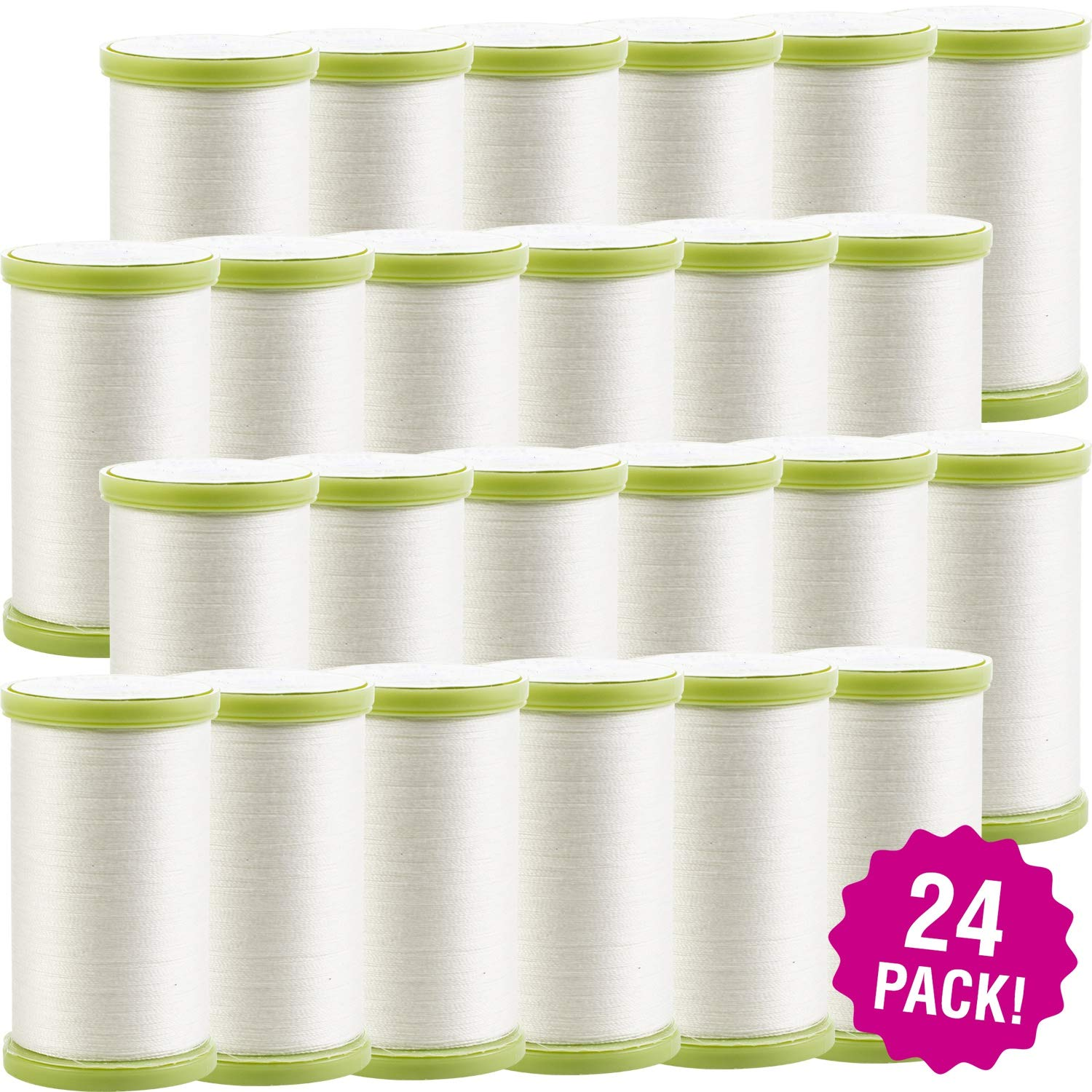 Coats 96956 Dual Duty Plus Hand Quilting Thread 325yd-24/Pk-White, White 24 Pack by Coats