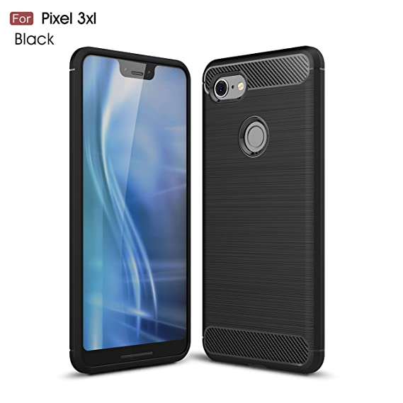 competitive price 92840 00c8f Pixel 3XL case,Google Pixel 3XL case,silicone shockproof cover durable  Ultra thin Carbon fiber soft protection case For Google Pixel 3XL (Black)