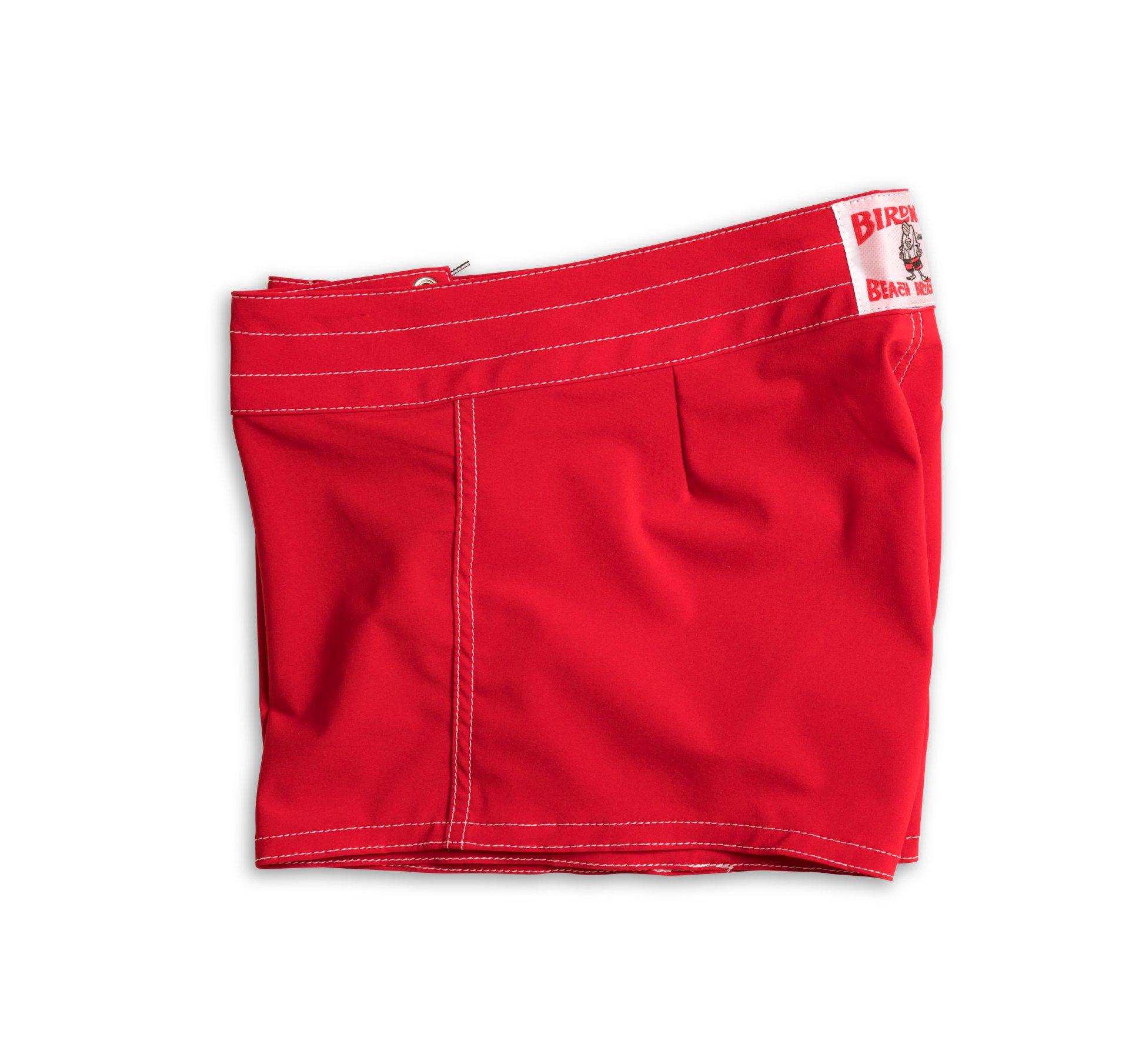 Birdwell Women's Stretch Board Shorts - Regular Rise (Red, 2) by Birdwell Beach Britches (Image #4)