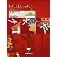 Clairefontaine Pastelmat Pad 18 x 24cm Pad No. 1, red, 18 x 24 cm (96016C)