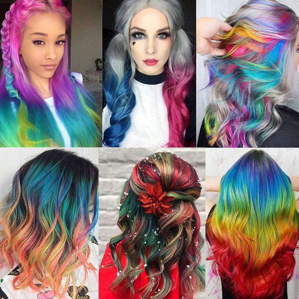 ORCCAC Mermaid Hair Coloring Shampoo, Juego de tinte para el ...