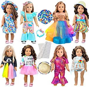 ARTST 18-inch Doll-Clothes and Accessories - Compatible with 18 inch American-Girl Dolls, My-Life-Dolls, Our-Generation-Dolls.