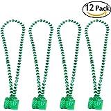 ULTNICE St Patrick's Day Beads Shamrock Necklace with Green Shot Glass 12PCS
