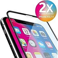 smart engineered Panzerglas kompatibel mit iPhone XS/X | Premium Frame Line [2 Stück] volle randlose Abdeckung [absolut passgenau mit Rand] mit Schablone Rahmen [3D Touch Panzerglas Folie]