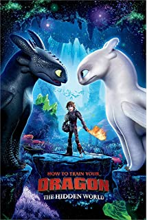 How To Train Your Dragon Hidden World Movie Poster Art Print A0 A1 A2 A3 Maxi