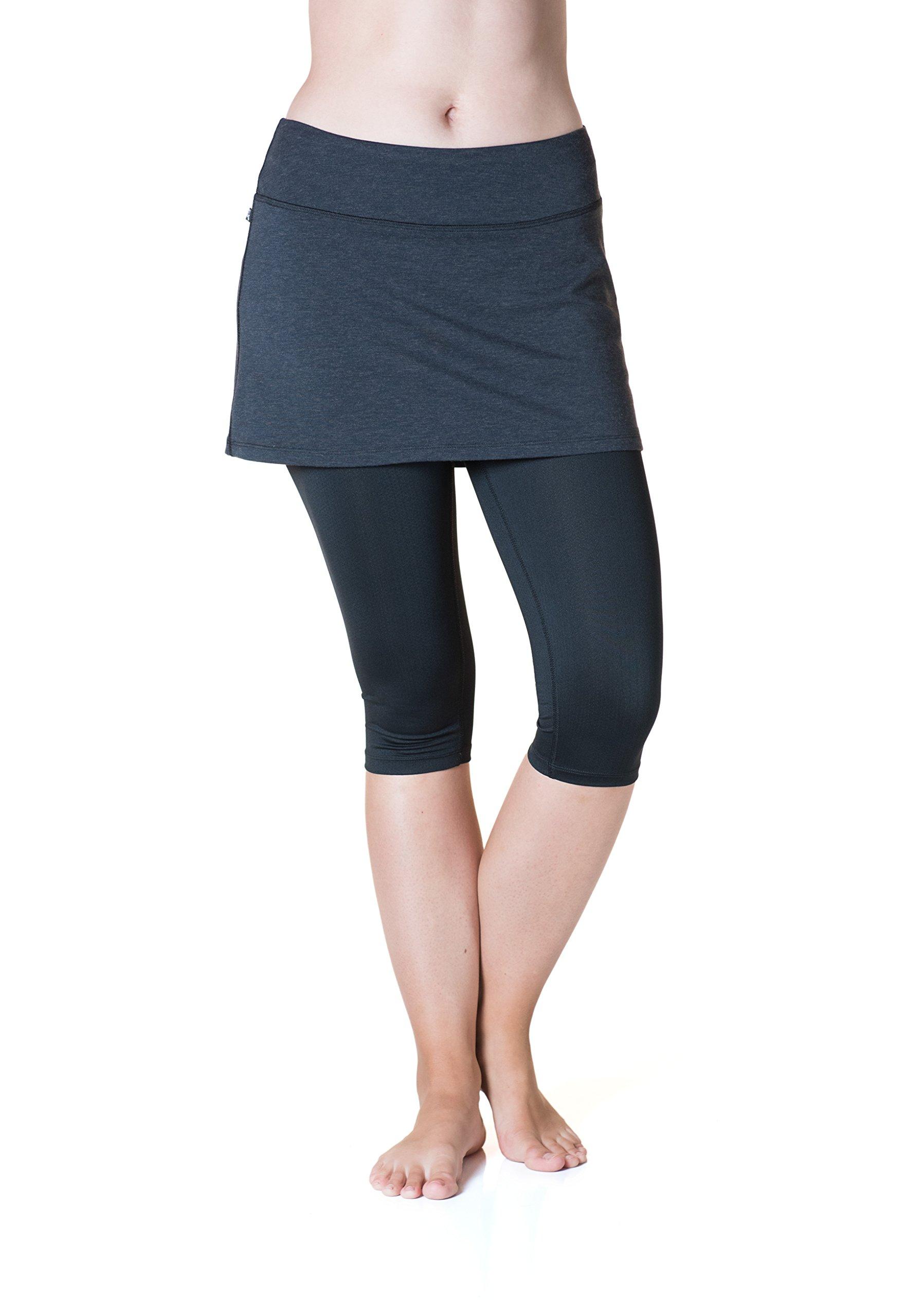 Skirt Sports Women's Lotta Breeze Capri Skirt, Wool/Black, Small by Skirt Sports