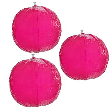Pelota de playa, balón de agua Color Fucsia Transparente, Pack de ...