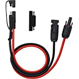 CERRXIAN 50cm 10AWG SAE to Male & Female Adapter 10AWG Cable with SAE Conector for RV Panel Solar