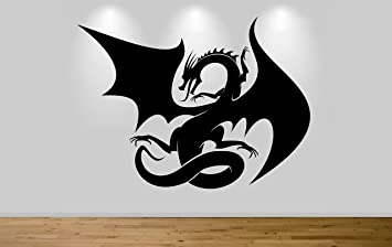Juko Large Fantasy Dragon Vinyl Wall Art Decal Sticker