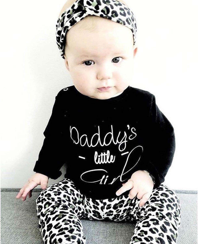 Top//T-Shirt /& Bottom//Pants 2 Piece Newborn Toddler Kids LongSleeves Outfit Set