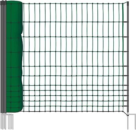 Geflügelnetz 50 m  112 cm Doppelspitze Weidezaun