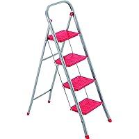FRAMAR Slimmy 4 Taburete Escalera de Acero, 4