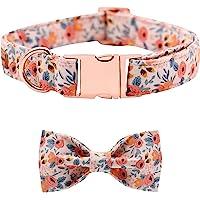 Collares Cachorros Collar De Perro Con Hebilla De Pajarita Collar De Cachorro Floral Collar Suave Cuello De Pajarita…