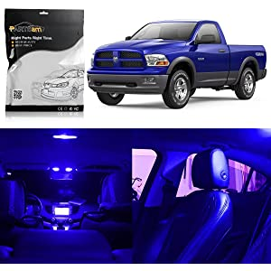 Partsam Dodge Ram 2009-2015 1500 2500 3500 Interior LED Light Package Kit with Pry