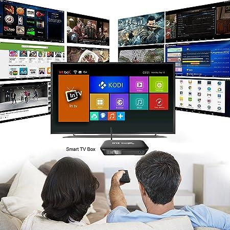 Docooler Smart TV Android 6.0 INT Box Pro Caja Amlogic S912 Octa-Core de 2 GB / 8 GB KODI 16.1 XBMC VP9 H.265 UHD 4K Mini PC 2.4G y 5G WiFi LAN