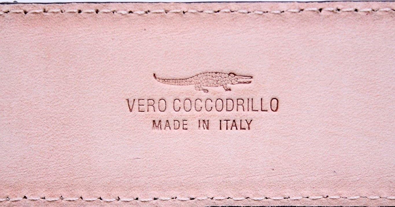 ESPERANTO Cintura 4 cm in Coccodrillo Pitone e pelle bovina Dark Coffee-Unisex