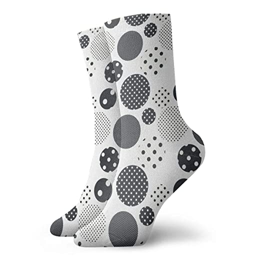 ba814272972 Image Unavailable. Image not available for. Color  Black And White  Geometric Circle Personalized Socks ...