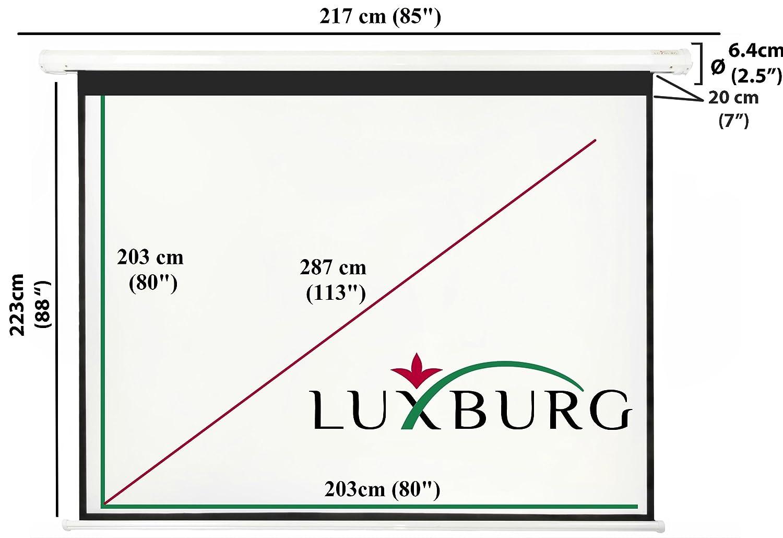 Luxburg® Pantalla de proyección 203 x 203 cm (Diagonal aprox. 113