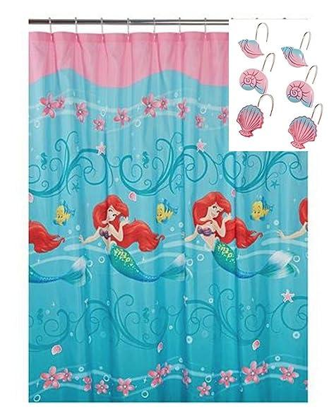 Kids Shower Curtain Sets - Ariel Little Mermaid Shower Curtain WITH ...