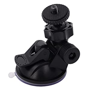 "iSaddle CH01A 1/4""-20 Thread Camera Suction Mount Tripod Holder in Dash Cam Mount Holder"