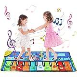 Alfombra de Piano, 130 * 48 cm Grande Alfombra Musical para Niños, Tapete Musical Toque Jugar Teclado de Piano Manta…