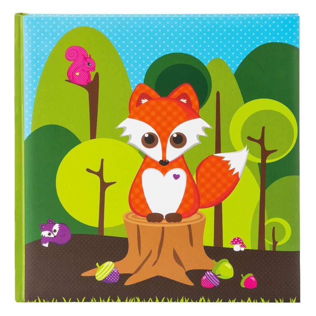 Goldbuch Album Enfant 3031x 31x 31cm 60pages avec pergamine, laminé Little Fox Art Print, vert, Little Fox, 30x31 cm 27 031