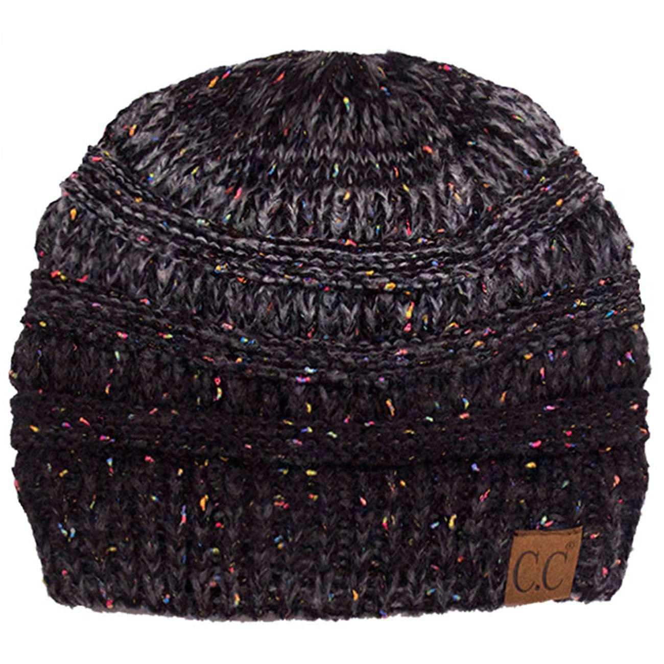 ScarvesMe Exclusive CC Ombre Knitted Beanie (Black)