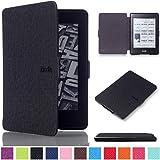 """""""Ultra Slim PU Deri Book Cover Flip Case Kılıfı Deri için Amazon Kindle 20147° Generation (6inç) Samrt Case Cover Kindle Paperwhite Siyah"""