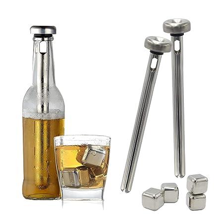 Compra TOOGOO Cerveza Chiller Stick y Bloque de Hielo de Acero ...