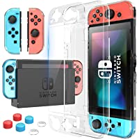 XUTECH Switch Case, Nintendo Switch Protective Case Kit with Screen Protector, Nintendo Switch Tempered Glass Screen…