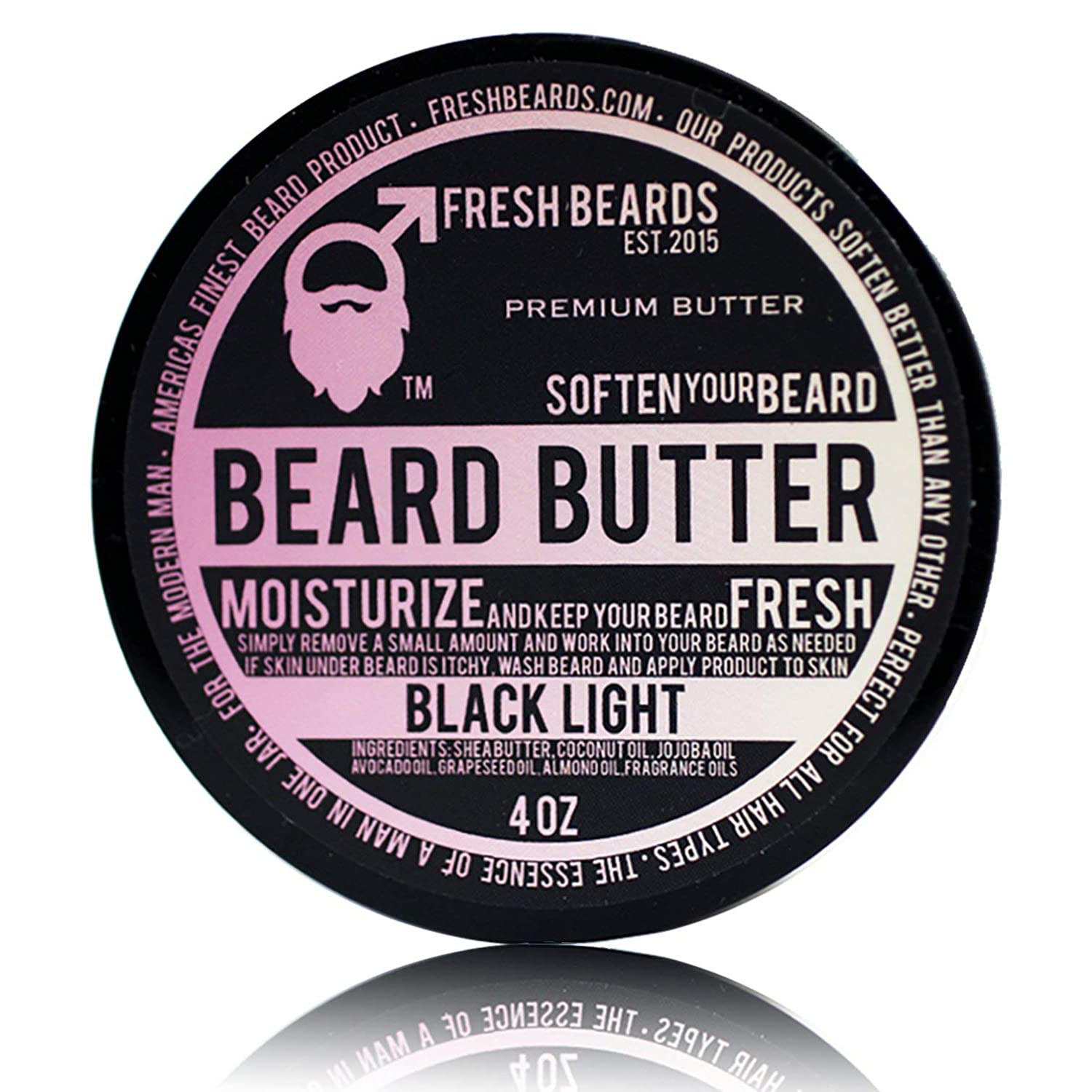 """Black Light"" Beard Butter Fresh Beards"