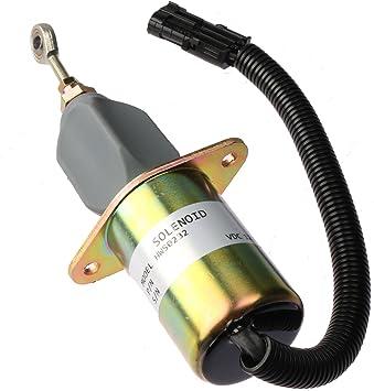 "Fuel Shut Off Solenoid 3/"" For 5.9L or 8.3L Cummins Diesel Engine 3931570 3935649"
