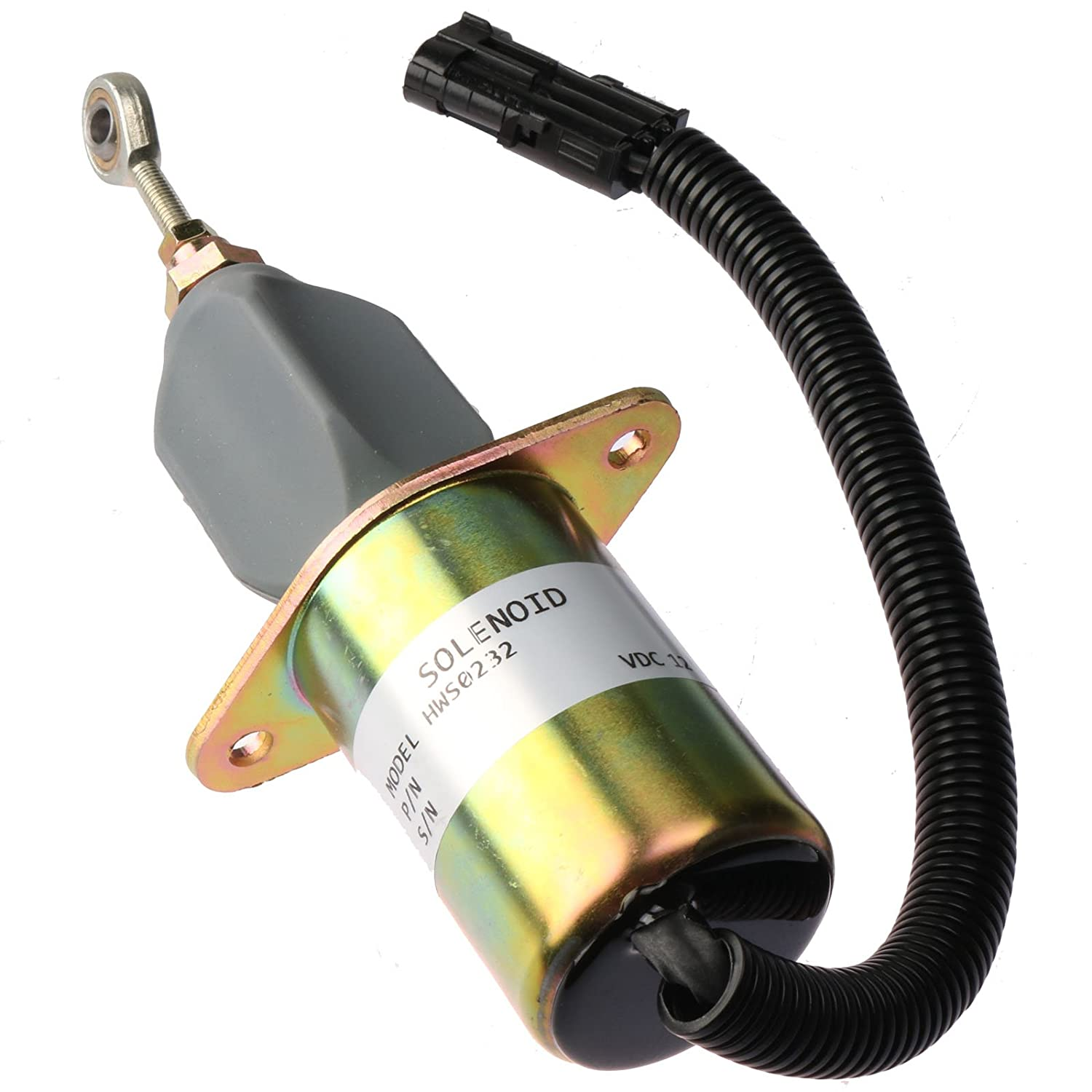 Holdwell Fuel Shutoff Solenoid 3935649 for 5.9L 8.3L Cummins Diesel Engine for Motorhomes Ford Freightliner
