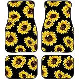 chaqlin Customized Floor Car Mat Sunflowers Black Universal Fit Car Floor Mats Holiday Decro Fit for SUV,Vans,sedans, Trucks,