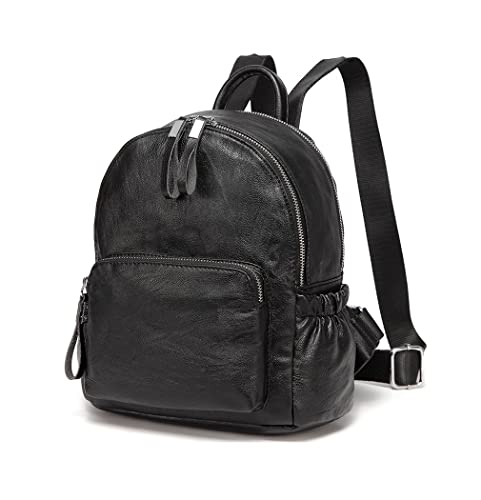 ed23b523d VASCHY Mini Backpack Purse, Faux Leather Small Backpack for Women Black