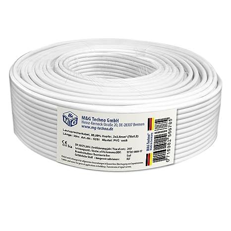 30m 2x2,5 mm² Cu LAUTSPRECHERKABEL OFC Echtes: Amazon.de: Elektronik