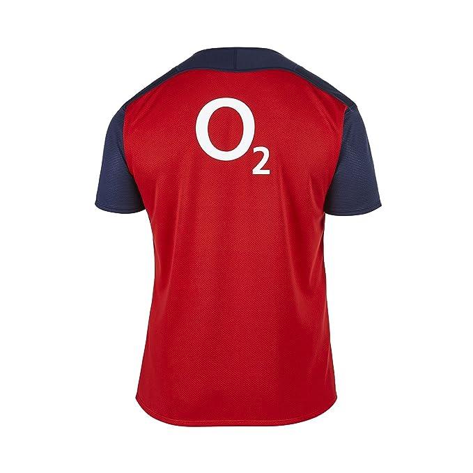 Canterbury England - Camiseta de equipación de fútbol para Hombre, Color Rojo, Talla L: Amazon.es: Deportes y aire libre