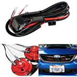 ijdmtoy (1) 12v horn wiring harness relay kit for car truck grille mount  blast