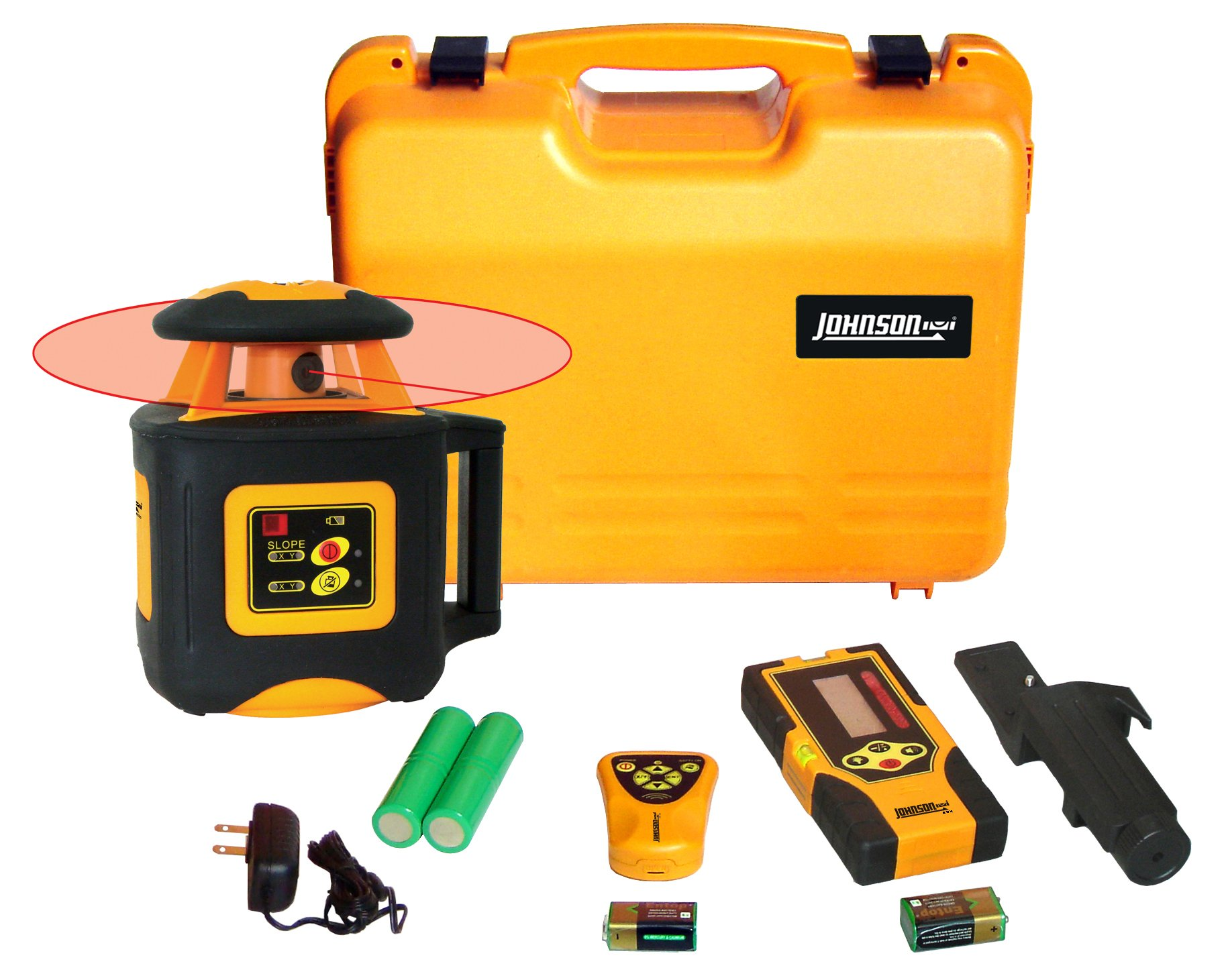 Johnson Level & Tool 40-6535 Electronic Self-Leveling Horizontal Rotary Laser Level with Dual Slope Feature by Johnson Level & Tool