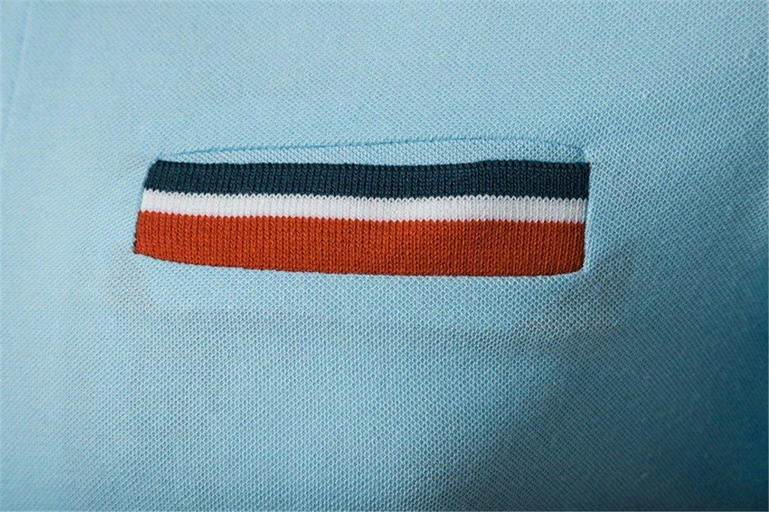 RF-V/êtements pour hommes des Bandes de Couleur dans l/ét/é et Fait Tomber Une Manches Courtes T-Shirt